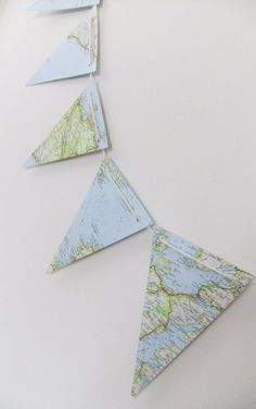 super cute #map #craft #diy - great for a little boy's room! #boy #design
