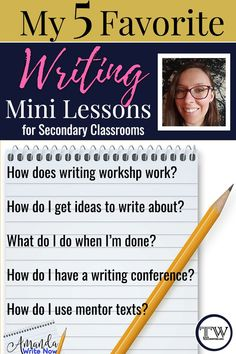 My favorite writing mini lessons: mentor sentences, writing conferences, and checklists. Mentor Sentences, Mentor Texts, Writer Workshop, Reading Workshop, Reading Tips, Workshop Ideas, Writing Mini Lessons, Teaching Writing, Writing Strategies