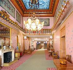the long gallery, the royal pavilion, brighton & hove, east sussex