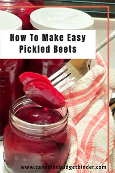 Pickled beets also known as beetroots are easy to make and inexpensive. I  show you step by step how to make pickled beets and what you can do  with your beet greens. Easy Pickled Beets and you have all of the  control of the flavours.