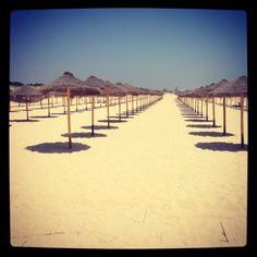 Long Sandy beach.. Praia Verde Tavira Portugal...