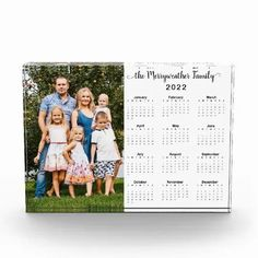 2022 Personalized Family Name Photo Calendar Acrylic Block Full Year Calendar, Holiday Cards, Christmas Cards, Magnetic Business Cards, Magnetic Calendar, Name Photo, Photo Calendar, Photo Blocks, Decoration Piece