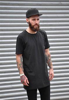 Camiseta Longline Preta (1)