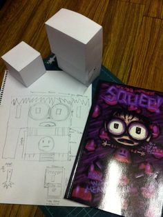 Comic book character translated into 3D. Squee! As a box!