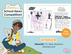 Congratulations to our Sammi School News Competition winners, whose entries featured in the Branksea school newspaper included with our Sammi doll. School Newspaper, Newspaper Article, Sports Day, School S, Toys For Girls, New Zealand, Competition, Congratulations, Activities