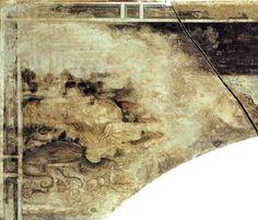 Pisanello - San Giorgio e la principessa (dettaglio: tana del drago) - affresco staccato - 1436-1438 - Chiesa di Sant'Anastasia, Verona