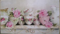 Ready to Hang Print - Assorted China featuring Two Jugs Limited edition print