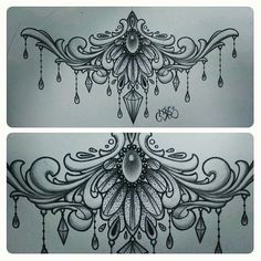 "Instagram media by cesarcastroart - I done drew my first ""underboob""/sternum design.. #drawing#art#filigree#underboob#tattoo#tattoos#tattoodesign#instaart#instagood#sternum#arte#bestoftheday#picoftheday#instamood#draw#sketch"