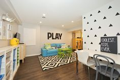 Play room Gallery Wall Play Vinyl Decals Coolest Kids Ever Toy Organization