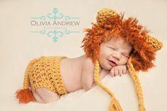 Lion Bonnet and Diaper Cover