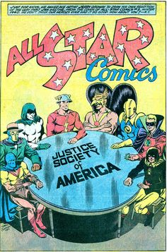 [Artwork] Original golden age justice society founders by Jerry Ordway (recreation of All Star Comics 3 cover dec 1940 from all star squadron annual 2 nov Star Comics, Dc Comics Art, Comic Book Publishers, Comic Books, Earth Two, Comic Font, Justice Society Of America, Comics Universe, Comic Page