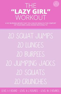 Amazing 'Lazy Girl' Workout! 6 Fat Burning Moves That You Can Do Anywhere! No Equipment Needed! Check It Out!