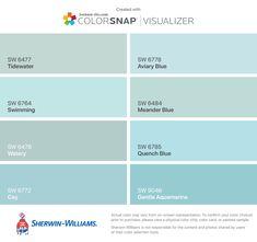Spa Paint Colors, Turquoise Paint Colors, Coastal Paint Colors, Aqua Paint, Turquoise Painting, Interior Paint Colors, Paint Colors For Home, House Colors, Spa Colors