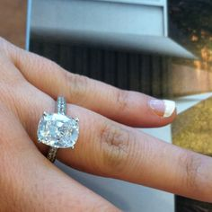 My engagement ring, cushion cut oval diamond :)