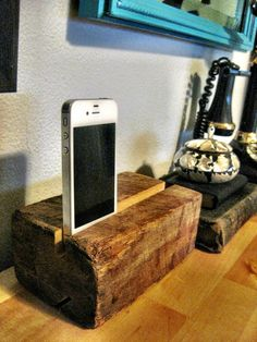 DIY raw wood iPhone speakers tutorial. This is genius! If this is true and works it'd be pretty neat.