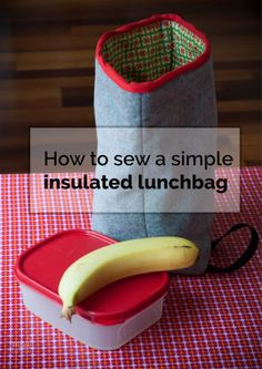 Today I am sharing a simple tutorial on how to sew an insulated lunch bag. I designed this bag as I wanted something that would be easily adjustable to the con Diy Lunch Bag Insulated, Kids Lunch Bags, Snack Bags, Lunch Box, Bag Patterns To Sew, Sew Pattern, Sewing Patterns, Sewing To Sell, Laminated Fabric
