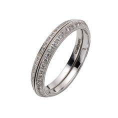 Ungar & Ungar Ring   18ct White Gold & Pave-Set Diamond Enhancing Rings