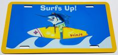 Surfs Up Surf Trixie aluminum vanity front license by billfishart