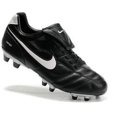 New Fashion Nike SoccerFootball Cleat Tiempo Legend III FG In Black white Football Bootsout of stock