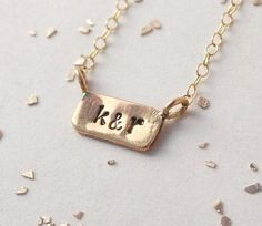 Keep your beloved's initials close to your heart. #etsyjewelry