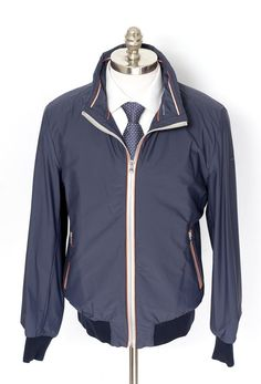 Paul & Shark Yachting gets sporty, in this Active Navy Hooded Light Stretch Jacket!