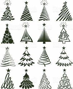 Copy on chalkboard - Christmas Tree Collection Royalty free vector graphics royalty-free stock vector artChristmas Tree Collection Lizenzfreie Vektorgrafiken Lizenzfreies vektor illustration Source by taylUno gigante para la pared Various Christmas T Noel Christmas, All Things Christmas, Winter Christmas, Christmas Ornaments, Fall Winter, Christmas Tree Graphic, Vector Christmas, Christmas Tree Painting, Free Christmas Tree Images