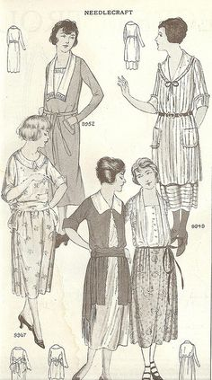 Vintage Fashion Dresses for spring, from the April 1921 issue of Needlecraft magazine. 1920s Fashion Women, Vintage Fashion, Womens Fashion, Vintage Style, Moda Vintage, 1920s Outfits, Vintage Outfits, Mode Collage, Radium Girls