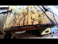 Wood burning With Lightning. Lichtenberg Figures! - YouTube
