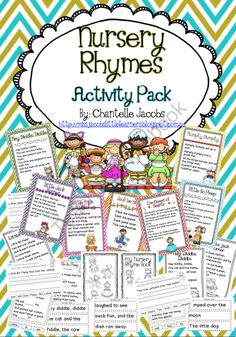 Nursery Rhymes Packet from Ms Jacobs Little Learners on TeachersNotebook.com (55 pages)  - This Nursery Rhyme Packet with a literacy focus has everything you need for teaching nursery rhymes to your Early Years students.  Featuring the following Nursery Rhymes:  -Little Miss Muffet -Little Bo Peep -Hey Diddle, Diddle -Humpty Dumpty -Little Jack