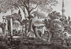 OĞUZ TOPOĞLU : eugene flandin eyüp sultan camii ve mezarlığı grav... Ceramic Art, Space Drawings, Illustration, Drawings, Painting, Art, Picture Engraving, Pattern Art, Art World