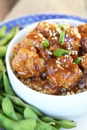 Lightened Up General Tso's Chicken from Our Best Bites intro