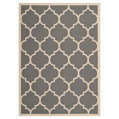 Mudroom - DAPHNE INDOOR/OUTDOOR RUG IN ANTHRACITE Anchor your patio seating group or define space in the den with this loomed indoor/outdoor rug, featuring a quatrefoil-inspired trellis motif for eye-catchin...