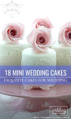 24 Exquisite Mini Wedding Cakes For Your Wedding ❤ More and more couples choose mini wedding cake for their reception. See more: http://www.weddingforward.com/mini-wedding-cakes/ #wedding #cakes