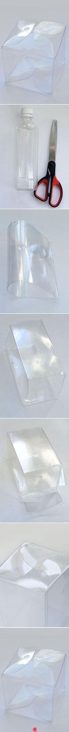 Da botiglia a scatola trasparente