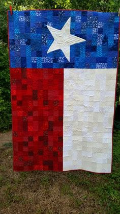 I have a lovely sister in law that might like this Texas flag quilt. ♥