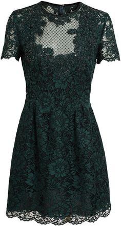 Embellished Lace Dress - Lyst