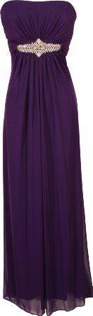 Amazon.com: Goddess Empire Strapless Chiffon Gown w/Rhinestone Accent Junior Plus Size: Clothing