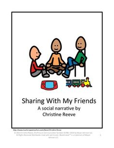 Sharing With My Friends: A Social Narrative (for students