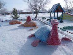 animals made of snow