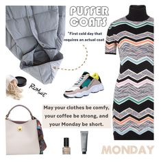 """""""Stay Warm: Puffer Coats"""" by lacas ❤ liked on Polyvore featuring Missoni, Bobbi Brown Cosmetics, romwe and puffercoats"""