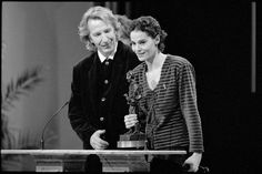 "1993 - Alan Rickman and Maia Morgenstern at European Film Awards - for ""An Awfully Big Adventure"" - she won the European Film Award for Best Actress in ""Balanta"". Professor Severus Snape, Alan Rickman Severus Snape, Piece Of Music, Falling In Love With Him, Half Blood, Film Awards, Hey Girl, Best Actor, Hollywood Stars"