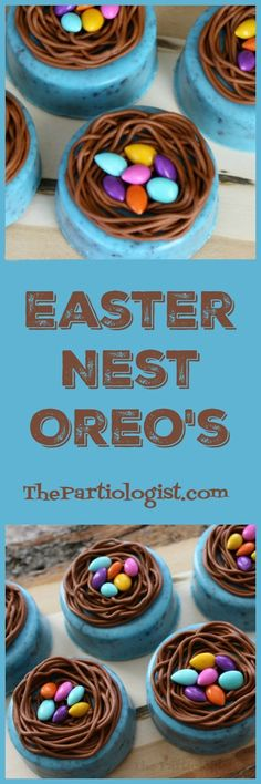 I can't tell you how excited I am about these Easter Nest Oreo's! Well yes, I can. You see they turned out just as I had planned and even. treats for neighbors Easter Nest Oreo's! Easter Cupcakes, Easter Cookies, Easter Treats, Easter Dinner Recipes, Holiday Recipes, Holiday Ideas, Easter Ham, Easter Food, Easy Bake Oven Mixes
