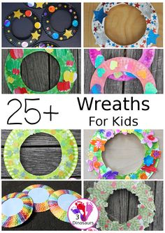 25+ Wreaths Crafts for Kids - Fun wreaths for fall, summer, winter and spring! Easy to make with fun ideas for each season. 3Dinosaurs.com #craftsforkids #wreathsforkids #wreaths #3dinosaurs Fun Arts And Crafts, Easy Crafts For Kids, Kid Crafts, Bored Jar, Boredom Busters For Kids, Kids Hands, Wreath Crafts, Gross Motor, Preschool Crafts