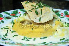 Terapia do Tacho: Filetes de pescada com alho francês e sopa de cogumelos (White fish fillets with leeks and mushroom soup)