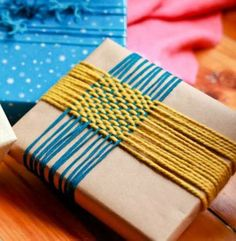 A Dozen Gift Wrapping Ideas You Can Do With the Kids   Apartment Therapy