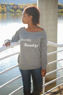 Seriously Natural Boutique ~Naturally Beautiful Wideneck Slouchy Sweatshirt. #blackwomen #blackwoman #teamnatural