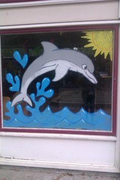 dolfijn schildering