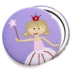 Fairy Princess Fabric Compact Mirror