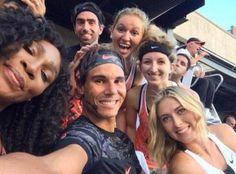 Rafael Nadal Maria Sharapova Serena Williams selfie at Nike Event in New York City 2015
