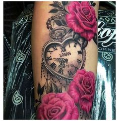 Stomach Tattoos Women, Dope Tattoos For Women, Tattoos For Women Flowers, Shoulder Tattoos For Women, Sleeve Tattoos For Women, Watch Tattoos, Mom Tattoos, Hand Tattoos, Locket Tattoos